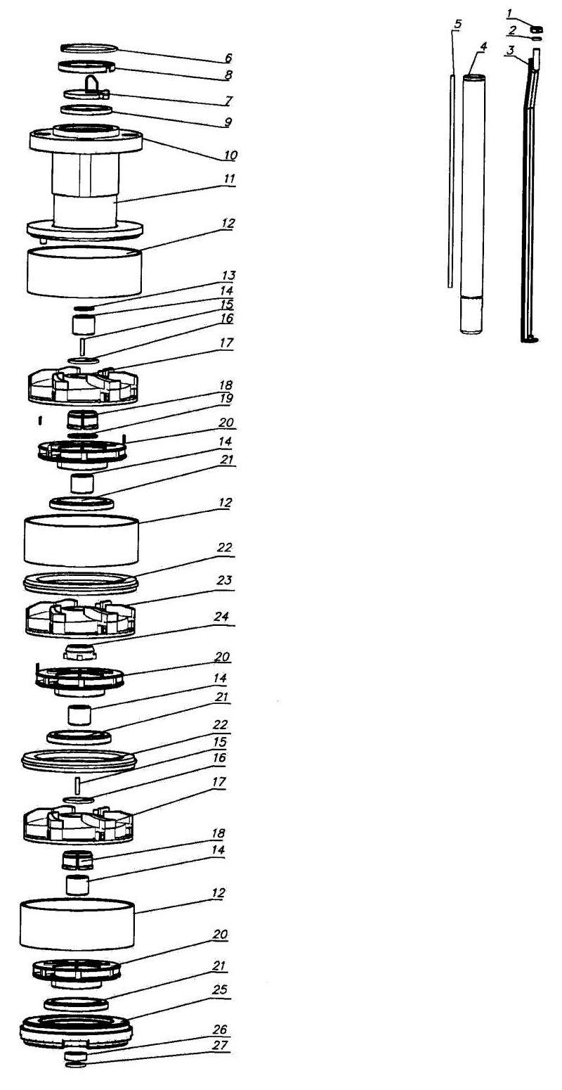 электрическая схема насоса эцв
