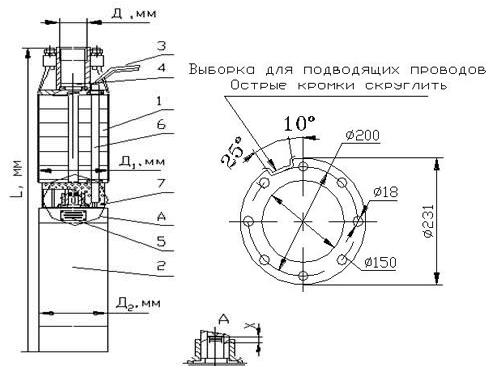Устройство насоса 2ЭЦВ-6
